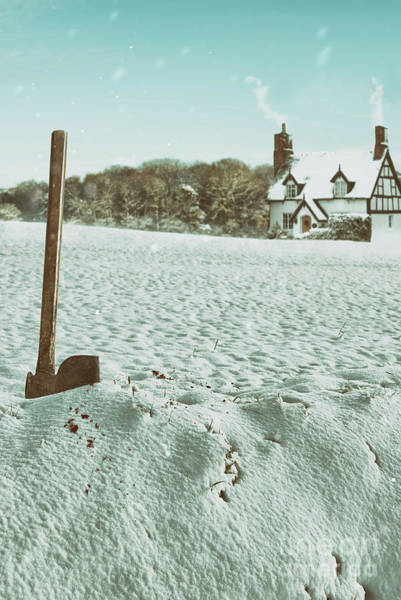 Wall Art - Photograph - Axe In The Snow by Amanda Elwell