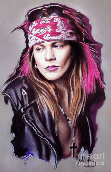 Wall Art - Mixed Media - Axl by Melanie D