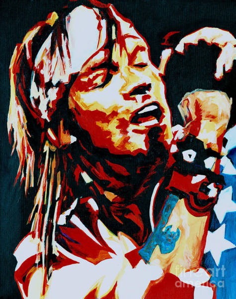 Guns And Roses Painting - Axl Rose. Dont Cry by Tanya Filichkin