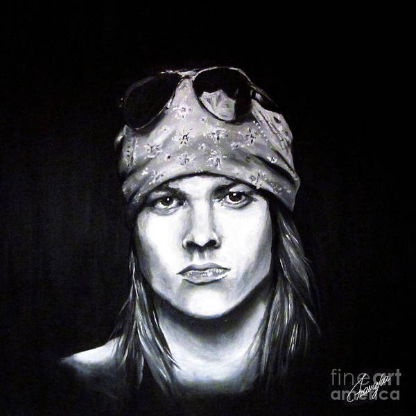 Acdc Painting - Axl Rose - Welcome To The Jungle by Francesca Agostini