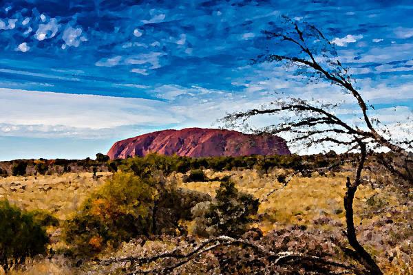 Prairie View Digital Art - Ayers Rock - Uluru by Volodymyr Dvornyk