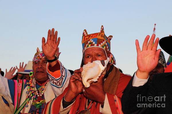 Aymara Wall Art - Photograph - Aymara Shaman Portrait Bolivia by James Brunker