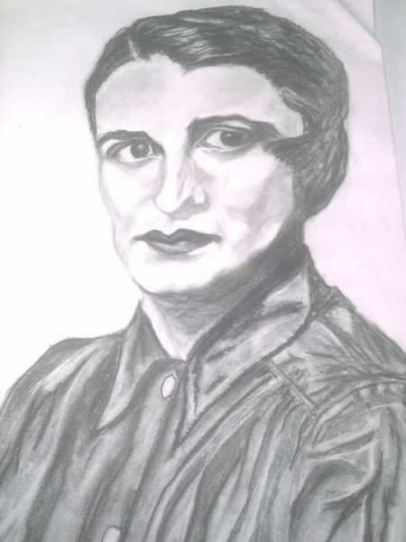 Ayn Rand Art Print
