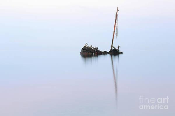 Ayrshire Shipwreck In Sunrise Ref3342 Art Print