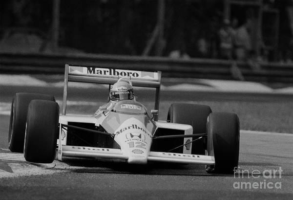 Racing Shell Photograph - Ayrton Senna. 1988 Italian Grand Prix by Oleg Konin
