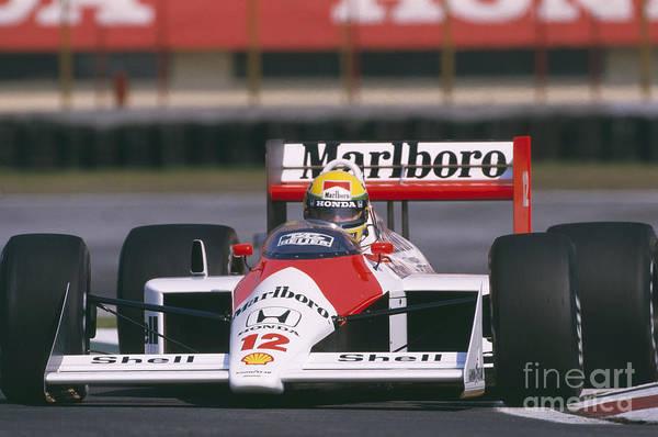 Racing Shell Photograph - Ayrton Senna. 1988 Mexican Grand Prix by Oleg Konin