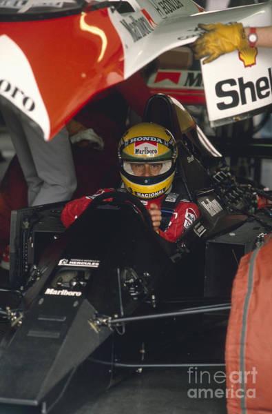 Racing Shell Photograph - Ayrton Senna. 1990 Italian Grand Prix by Oleg Konin