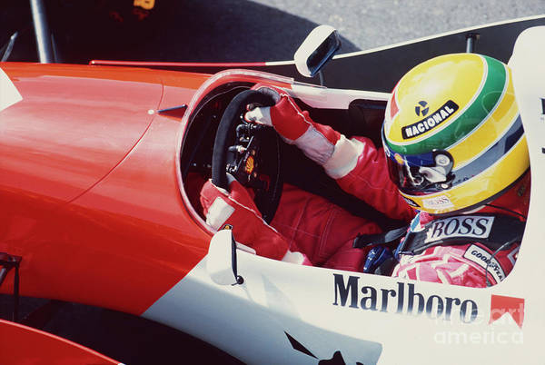 Racing Shell Photograph - Ayrton Senna. 1993 Spanish Grand Prix by Oleg Konin