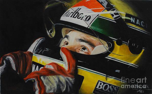 Ayrton Senna Wall Art - Painting - Ayrton Senna by Artem Oleynik