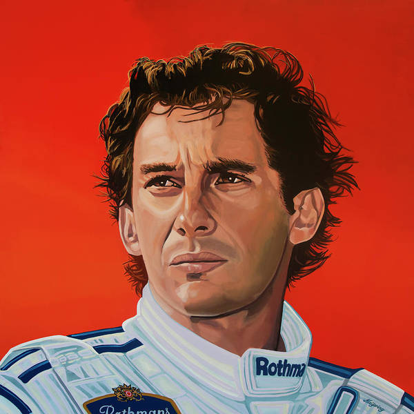 Painting - Ayrton Senna Portrait Painting by Paul Meijering