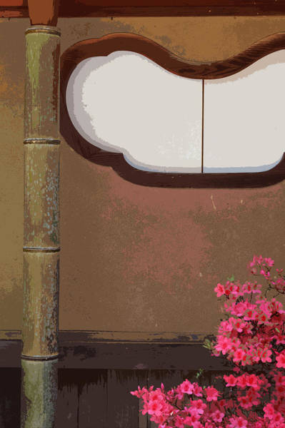 Saffron Digital Art - Azalea At Shisendo by Cinnabar and Saffron