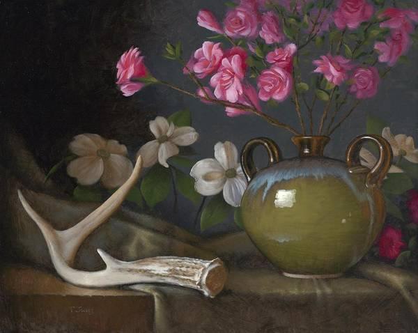 Wall Art - Painting - Azaleas And Dogwood by Timothy Jones