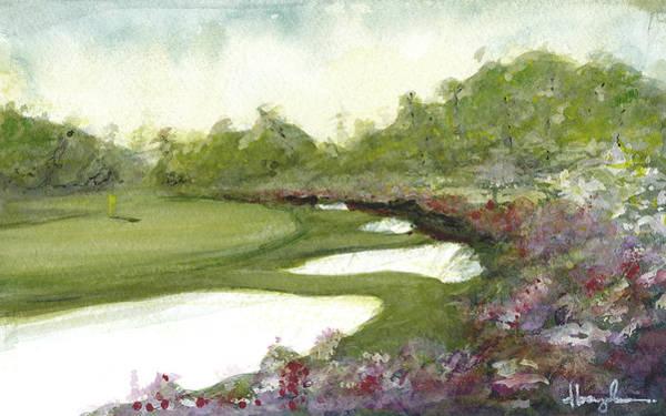 Augusta Masters Painting - Azaleas by Dave Baysden