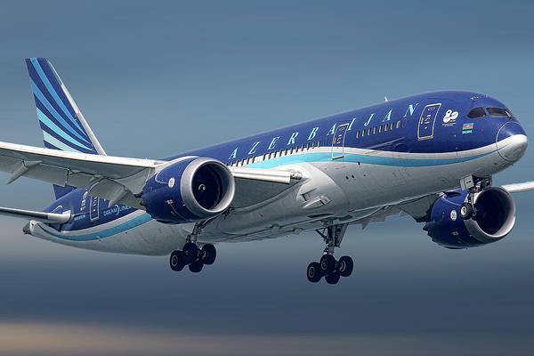 Wall Art - Mixed Media - Azerbaijan Airlines Boeing 787 Dreamliner by Smart Aviation