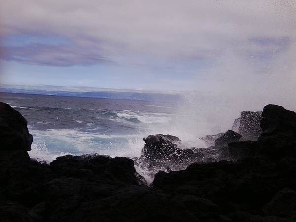 Photograph - Azores Splash 5 by Julia Woodman