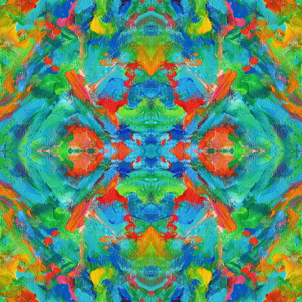 Wall Art - Digital Art - Aztec Kaleidoscope - Pattern 005 by Julie Turner