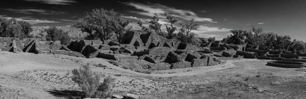 Wall Art - Photograph - Aztec Ruins Panorama New Mexico Bw by Steve Gadomski