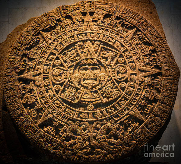 Aztec Photograph - Aztec Stone Of The Sun  by Inge Johnsson