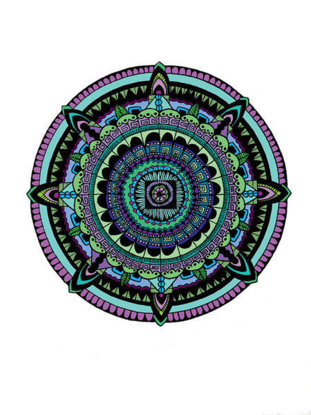 Circle Digital Art - Azteca by Elizabeth Davis