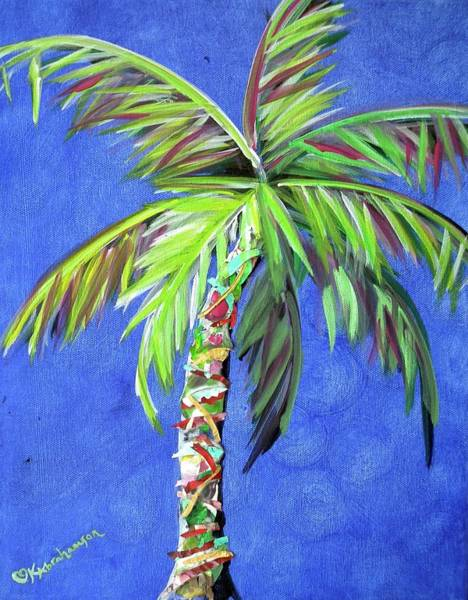 Azul Palm Art Print