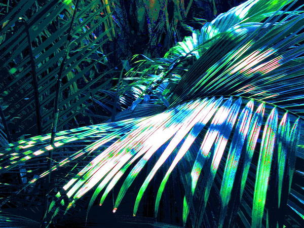 Azul Shimmer Art Print by Scott K Wimer