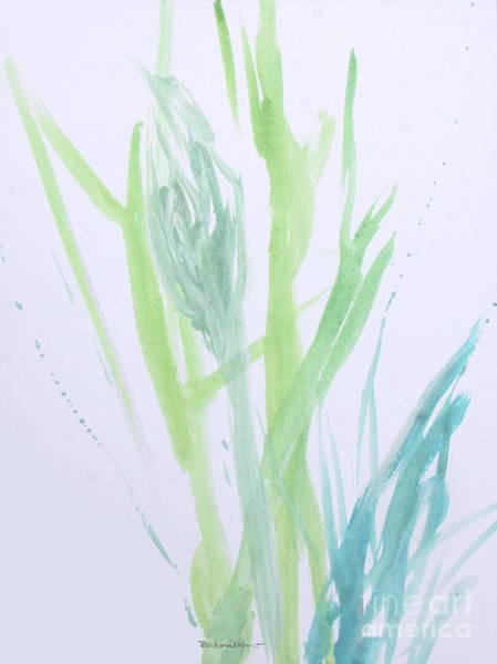 Painting - Azul Verdoso Silvery Rain  by Robin Maria Pedrero