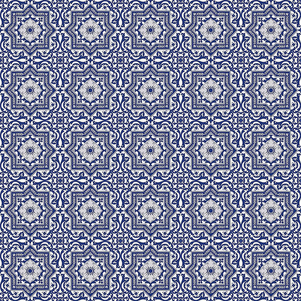 Painting - Azulejo Floral Pattern - 46  by Andrea Mazzocchetti