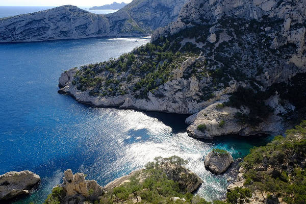 Photograph - Azure Calanques by August Timmermans