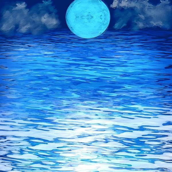 Aqua Satellite Digital Art - Azure by Karen Conine