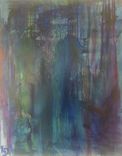 Art Print featuring the painting Azure Swamp by Rebecca Davidson