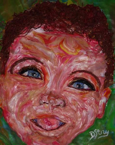 Mixed Media - Azuriah by Deborah Stanley