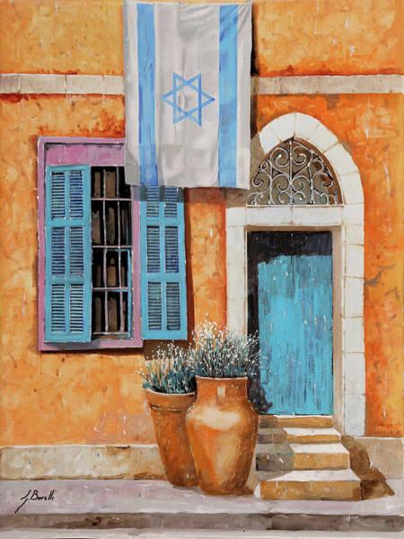 Israel Wall Art - Painting - Azzurro Israele by Guido Borelli