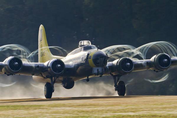 B-17 Chuckie Taking Off Art Print