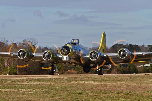 B-17 Chuckie Taxis Out Art Print