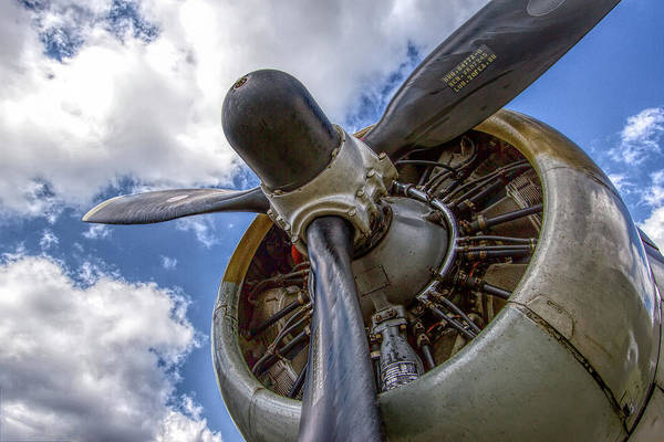 Wall Art - Photograph - B-17 Engine by Mike Burgquist