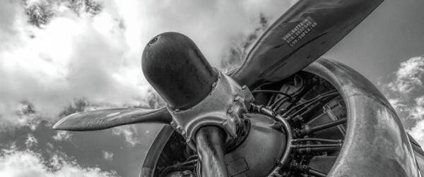 Wall Art - Photograph - B-17 Engine Prop by Mike Burgquist