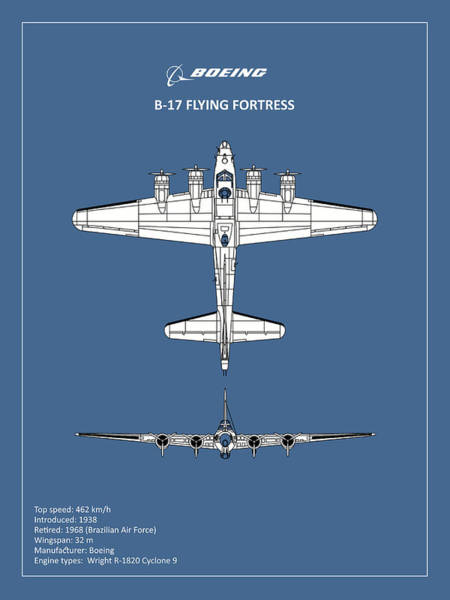 Flying Fortress Photograph - B-17 Flying Fortress by Mark Rogan