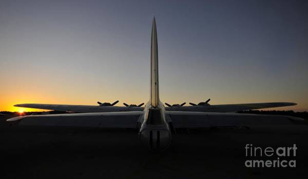 B-17 Bomber Photograph - B 17 Sunrise by David Lee Thompson