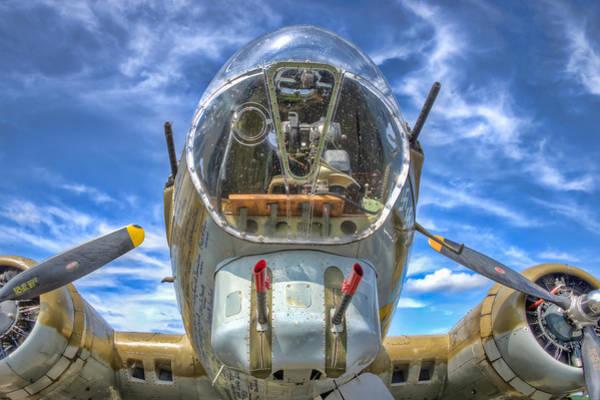 Photograph - B 17 Up Close by Gary Slawsky