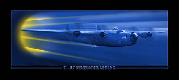 Wall Art -  - B-24 Liberator Legend by Mike McGlothlen