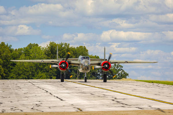 Photograph - B-25 Tondelayo On The Runway by Jack R Perry