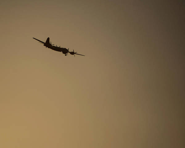 Photograph - B-29 Airplane At Sunrise - Fifi by Chris Coffee