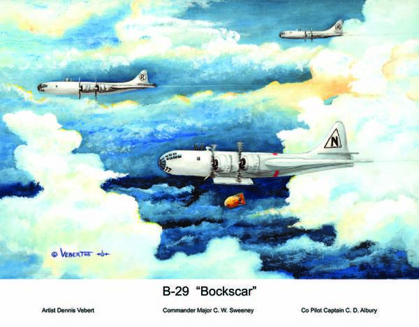 World War 11 Painting - B-29 Bockscar by Dennis Vebert