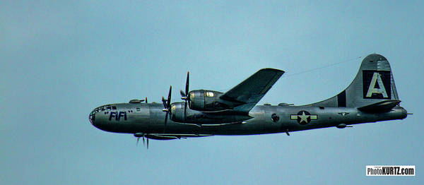 Photograph - B-29 Fifi Arrives by Jeff Kurtz