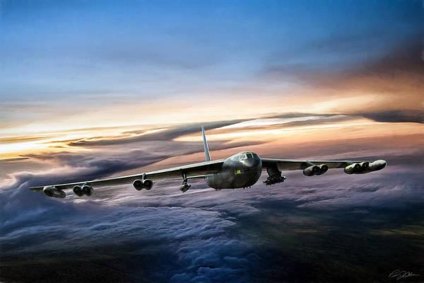 Cold War Digital Art - B-52 Inbound by Peter Chilelli