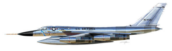 Nuclear Bomber Wall Art - Digital Art - B-58 Hustler by Dale Jackson