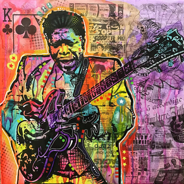 Wall Art - Painting - B. B. King by Dean Russo Art