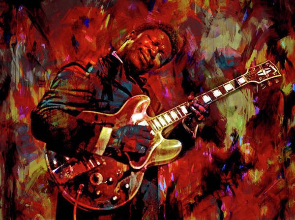 Wall Art - Mixed Media - B. B. King by Mal Bray