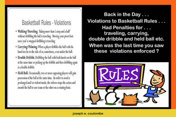 Digital Art - B - Ball Rules Forgotten by Joseph Coulombe