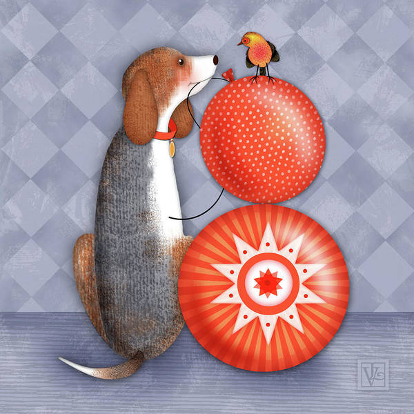 Digital Art - B Is For Beagle by Valerie Drake Lesiak